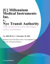 U Millennium Medical Instruments Inc V Nyc Transit Authority