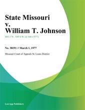 State Missouri V. William T. Johnson