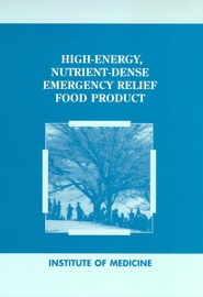 HIGH-ENERGY, NUTRIENT-DENSE EMERGENCY RELIEF FOOD PRODUCT