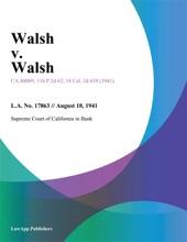 Walsh V. Walsh