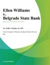 Ellen Williams V Belgrade State Bank