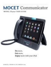 User Guide For MOCET Communicator