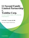 Li Second Family Limited Partnership V Toshiba Corp