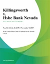 Killingsworth V Hsbc Bank Nevada