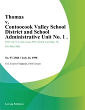 Thomas v. Contoocook Valley School District and School Administrative Unit No. 1 .
