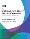 Hill V Culligan Soft Water Service Company