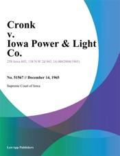 Download Cronk v. Iowa Power & Light Co.