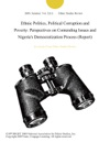 Ethnic Politics Political Corruption And Poverty Perspectives On Contending Issues And Nigerias Democratization Process Report