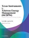 Texas Instruments V Teletron Energy Management 042094