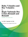 Ruby Velandra And Roy Velandra V Regie Nationale Des Usines Renault And Renault