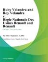 Ruby Velandra And Roy Velandra V Regie Nationale Des Usines Renault And Renault