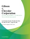 Gibson V Chrysler Corporation