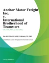 Anchor Motor Freight Inc V International Brotherhood Of Teamsters
