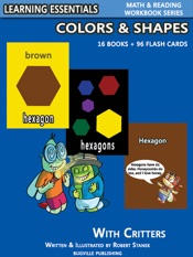 Colors & Shapes Storybooks: 16 Books & 96 Flash Cards with Critters