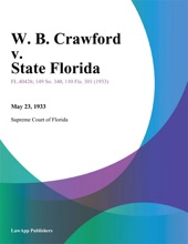 W. B. Crawford V. State Florida