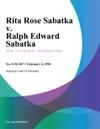 020494 Rita Rose Sabatka V Ralph Edward Sabatka