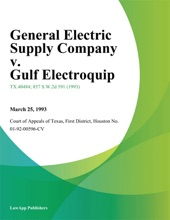 General Electric Supply Company V. Gulf Electroquip