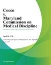 Cocco V Maryland Commission On Medical Discipline