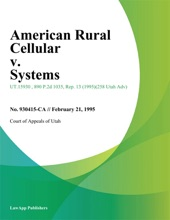 American Rural Cellular V. Systems
