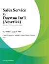 Sales Service V Daewoo Intl America