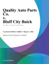Quality Auto Parts Co V Bluff City Buick