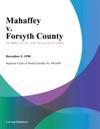 Mahaffey V Forsyth County