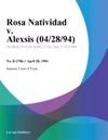 Rosa Natividad V Alexsis 042894