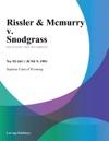 Rissler  Mcmurry V Snodgrass