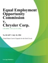 Equal Employment Opportunity Commission V Chrysler Corp