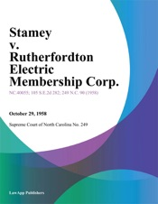 Download Stamey v. Rutherfordton Electric Membership Corp.