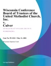 Wisconsin Conference Board Of Trusteesofthe United Methodist Church Inc V Culver