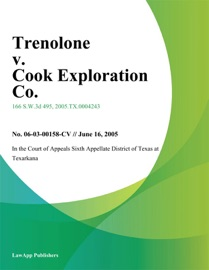 TRENOLONE V. COOK EXPLORATION CO.