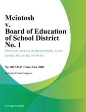 Mcintosh v. Board of Education of School District No. 1