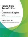Inland Bulk Transfer Co V Cummins Engine Co