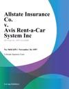 Allstate Insurance Co V Avis Rent-A-Car System Inc