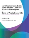 Certification From United States District Court For Western Washington V Town Of North Bonneville