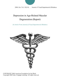 Depression In Age Related Macular Degeneration Report