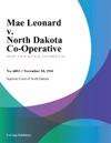 Mae Leonard V North Dakota Co-Operative