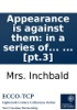 Appearance Is Against Them: In A Series Of Letters, In Three Volumes, By The Author Of Emily Herbert, Or Perfidy Punished. ... [pt.3]