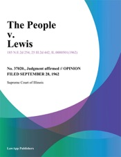Download and Read Online The People v. Lewis