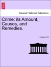 Crime Its Amount Causes And Remedies