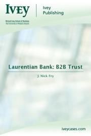 LAURENTIAN BANK: B2B TRUST