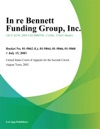 In Re Bennett Funding Group Inc