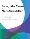 Barney Alex Molnar V Mary Joan Molnar