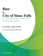 Bass V. City Of Sioux Falls