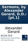 Sermons By Alexander Gerard DD Pt1