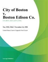 City Of Boston V. Boston Edison Co.