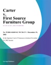 Carter V First Source Furniture Group