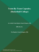 Team-By-Team Capsules (Basketball College)