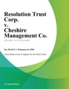 Resolution Trust Corp V Cheshire Management Co